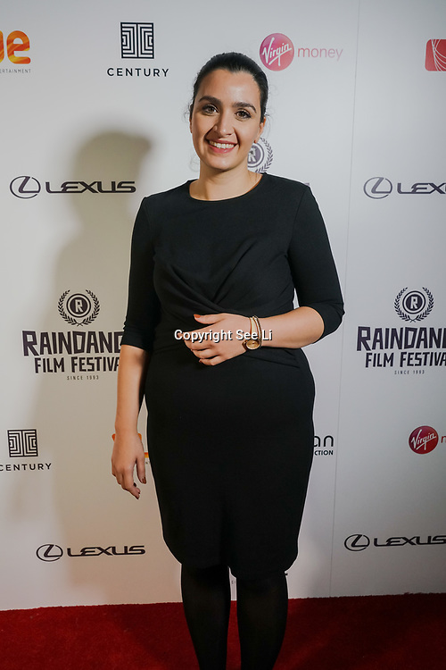 London, England, UK. 25th September 2017. Assistant Producer Magdalini Parouti of TRENDY attend Raindance Film Festival Screening at Vue Leicester Square, London, UK