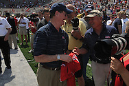 Retiring Associate Athletic Director for Media Relations Langston Rogers during halftime presentations in Mississippi's Grove Bowl in Oxford, Miss. on Saturday, April 17, 2010.