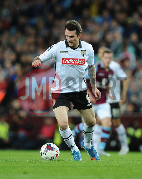 James Spencer of Notts County  - Mandatory byline: Joe Meredith/JMP - 07966386802 - 25/08/2015 - FOOTBALL - Villa Park -Birmingham,England - Aston Villa v Notts County - Capital One Cup - Second Round