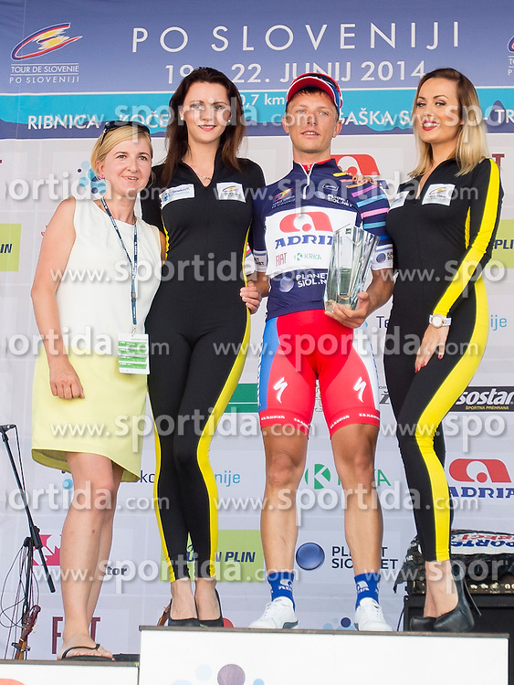Klemen Stimulak of KK Adria Mobil during Stage 4 from Skofja Loka to Novo Mesto (153 km) of cycling race 21st Tour of Slovenia, on June 22, 2014 in Slovenia. Photo By Urban Urbanc / Sportida