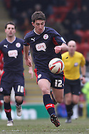 Picture by David Horn/Focus Images Ltd +44 7545 970036.23/02/2013.Joe Walsh of Crawley Town during the npower League 1 match at the Matchroom Stadium, London.