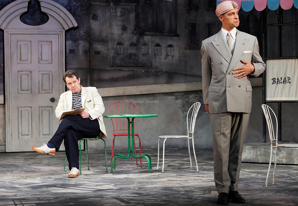 23nd June 2017.Il Turco in Italia, Rossini  at Garsignton Opera. <br /> <br /> Prosdocimo - Mark Stone<br /> Selim - Quirijn de Lang