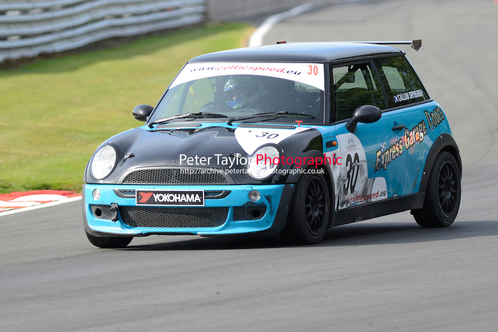 #30 Callum Dryburgh Mini Cooper during Celtic Speed Scottish Mini Cooper Cup Race 2 as part of the Mini Festival  at Oulton Park, Little Budworth, Cheshire, United Kingdom. August 08 2015. World Copyright Peter Taylor. Copy of publication required for printed pictures.  Every used picture is fee-liable. http://archive.petertaylor-photographic.co.uk