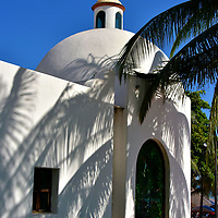 Nuestra Se&ntilde;ora del Carmen Chapel in Playa del Carmen, Mexico<br />