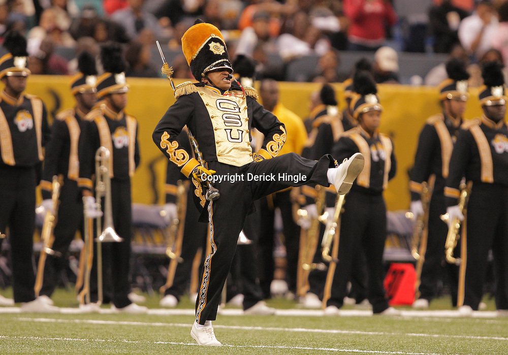 2008 November, 29: Grambling State University drum major performs during halftime of the 35th annual State Farm Bayou Classic between Southern University and Grambling State University at the Louisiana Superdome in New Orleans, LA.  .