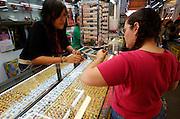 At the Chatuchak Weekend-Market. Gemstone dealer.