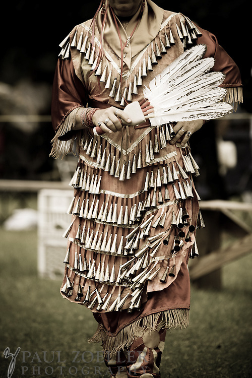An example of the elaborate regalia men and women wear during the 2011 Annual Edisto Indian Natchez-Kusso Powwow in Ridgeville.