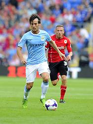 Manchester City's David Silva  - Photo mandatory by-line: Joe Meredith/JMP - Tel: Mobile: 07966 386802 25/08/2013 - SPORT - FOOTBALL - Cardiff City Stadium - Cardiff -  Cardiff City V Manchester City - Barclays Premier League