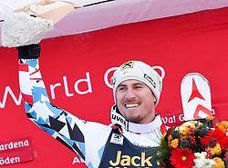 17.12.2016, Saslong, St. Christina, ITA, FIS Ski Weltcup, Groeden, Abfahrt, Herren, Siegerehrung, im Bild Max Franz (AUT, 1. Platz) // race winner Max Franz of Austria during the winner Ceremony for the men's downhill of FIS Ski Alpine World Cup Saslong race course in St. Christina, Italy on 2016/12/17. EXPA Pictures © 2016, PhotoCredit: EXPA/ Erich Spiess