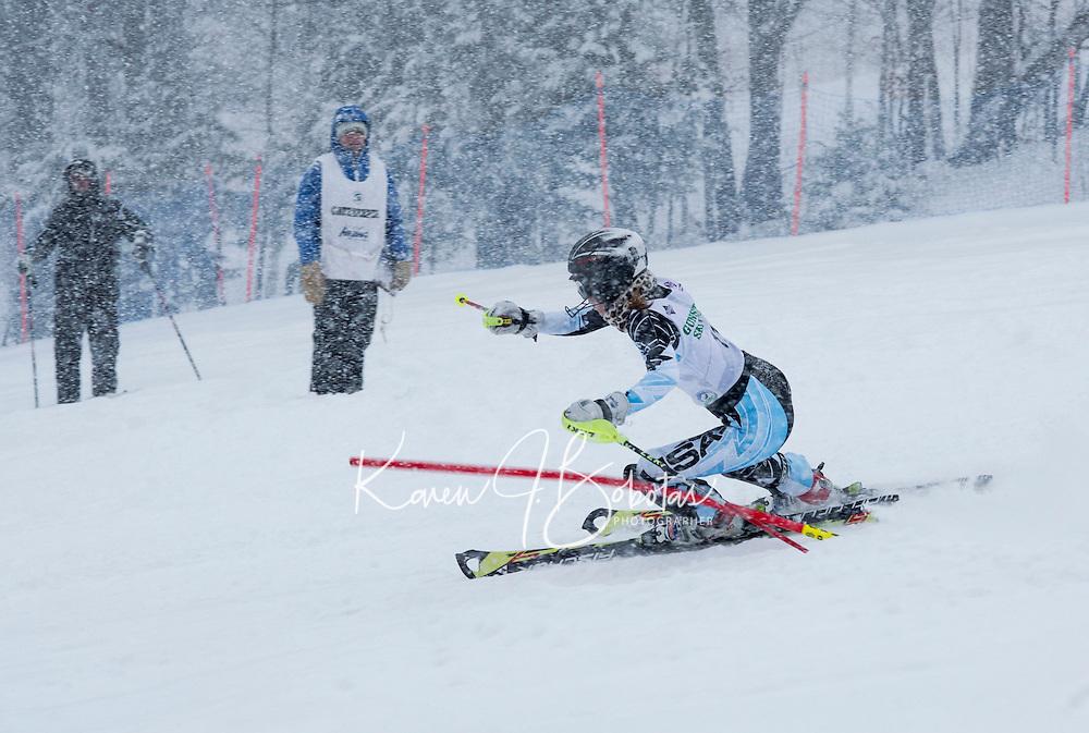 GSC Nyquist Memorial slalom at Gunstock.  ©2014 Karen Bobotas Photographer