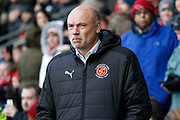 Uwe Rosler Head Coach of Fleetwood Town  during the EFL Sky Bet League 1 match between Fleetwood Town and Blackpool at the Highbury Stadium, Fleetwood, England on 25 November 2017. Photo by Paul Thompson.