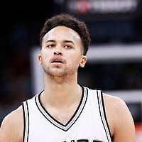 04 April 2017: San Antonio Spurs guard Bryn Forbes (11) is seen during the San Antonio Spurs 95-89 OT victory over the Memphis Grizzlies, at the AT&T Center, San Antonio, Texas, USA.