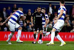 Anthony Knockaert of Brighton & Hove Albion takes on the Queens Park Rangers defenders - Mandatory by-line: Robbie Stephenson/JMP - 07/04/2017 - FOOTBALL - Loftus Road - Queens Park Rangers, England - Queens Park Rangers v Brighton and Hove Albion - Sky Bet Championship
