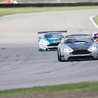#1, BMW Z4 GT3, Ecurie Ecosse, driven by Marco Attard and Alexander Sims, 03/05/2015 (Right) leading the pack. British GT Championships at Rockingham