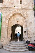 Israel, Jerusalem, Mount Zion, Entrance to King David's tomb
