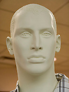 close up of a classic looking face of mannequin