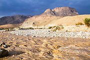 winter flash flood in the Judean desert, israel
