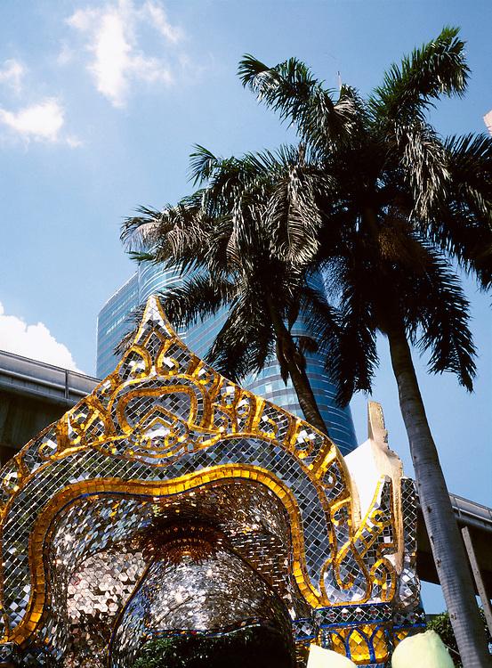 Erawan Shrine and skytrian