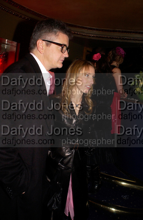 Jay Jopling and Sam Taylor Wood. 25th anniversary party and fashion show by Agent Provocateur at the Cafe de Paris, Coventry Street, London W1 on 14th February 2005.ONE TIME USE ONLY - DO NOT ARCHIVE  © Copyright Photograph by Dafydd Jones 66 Stockwell Park Rd. London SW9 0DA Tel 020 7733 0108 www.dafjones.com