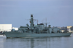 © Licensed to London News Pictures. 02/03/2013. Stock photo of HMS Lancaster on the River Thames taken March 2013. The navy frigate is in the news after the Royal Navy captured £100million worth of cocaine near Puerto Rico credit : Rob Powell/LNP