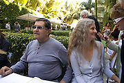 MARTY MARGALIES; CONSTANCE MARGALIES, Collectors Brunch, Sagamore Hotel Miami Beach. Art Basel Miami Beach. 6 December 2008 *** Local Caption *** -DO NOT ARCHIVE -Copyright Photograph by Dafydd Jones. 248 Clapham Rd. London SW9 0PZ. Tel 0207 820 0771. www.dafjones.com