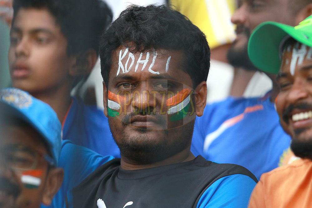 India team fan during the 1st One Day International between India and Australia held at the M. A. Chidambaram Stadium in Chennai on the 17th September 2017<br /> <br /> Photo by Rahul Gulati / BCCI / SPORTZPICS