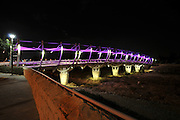 Beer Sheva bridge illuminated at night