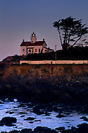 Morning light on Battery Point Lighthouse, Crescent City, Del Norte County, California