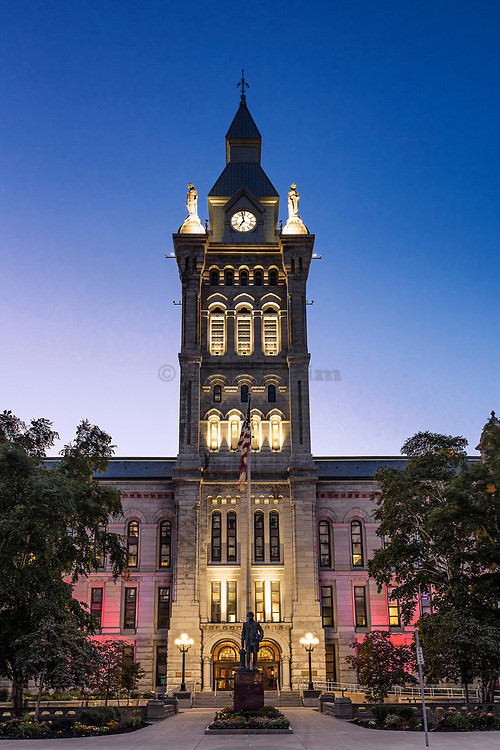 Erie County Hall, architect Andrew Jackson Warner, Buffalo, New York, USA.