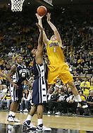 24 JANUARY 2007: Iowa guard Adam Haluska (1) grabs a rebound in Iowa's 79-63 win over Penn State at Carver-Hawkeye Arena in Iowa City, Iowa on January 24, 2007.