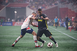 August 1, 2018 - Atlanta, Georgia, United States - MLS All-Star defender AARON LONG,33 (New York Red Bulls) fights for the ball against Juventus midfielder MATHEUS PEREIRA, 40 during the 2018 MLS All-Star Game at Mercedes-Benz Stadium in Atlanta, Georgia.  Juventus F.C. defeats  MLS All-Stars defeat  1 to 1  (Credit Image: © Mark Smith via ZUMA Wire)