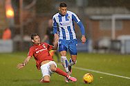 Matthew Briggs looks to get past Ruben Lamerias of Coventry City during the Sky Bet League 1 match between Colchester United and Coventry City at the Weston Homes Community Stadium, Colchester<br /> Picture by Richard Blaxall/Focus Images Ltd +44 7853 364624<br /> 14/11/2015