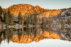 """Paradise Lake 7"" - Photograph of Paradise Lake in the Tahoe area back country, shot just before sunset."
