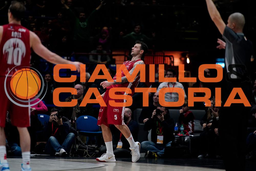 Micov Vladimir Esultanza <br /> A|X Armani Exchange Olimpia Milano - Vanoli Cremona <br /> Basket Serie A LBA 2019/2020<br /> Milano 09 February 2020<br /> Foto Mattia Ozbot / Ciamillo-Castoria