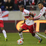 Roy Miller, (centre) and Armando, New York Red Bulls, celebrate their sides late equalizer in action during the New York Red Bulls V Chivas USA, Major League Soccer regular season match at Red Bull Arena, Harrison, New Jersey. USA. 30th March 2014. Photo Tim Clayton