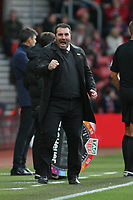 Football - 2017 / 2018 Premier League - Southampton vs. Everton<br /> <br /> Everton Caretaker Manager David Unsworth celebrates Everton equaliser at St Mary's Stadium Southampton<br /> <br /> COLORSPORT/SHAUN BOGGUST
