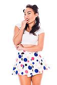 2015 Polka Dot Skirt Pinup - Sunshine Lee