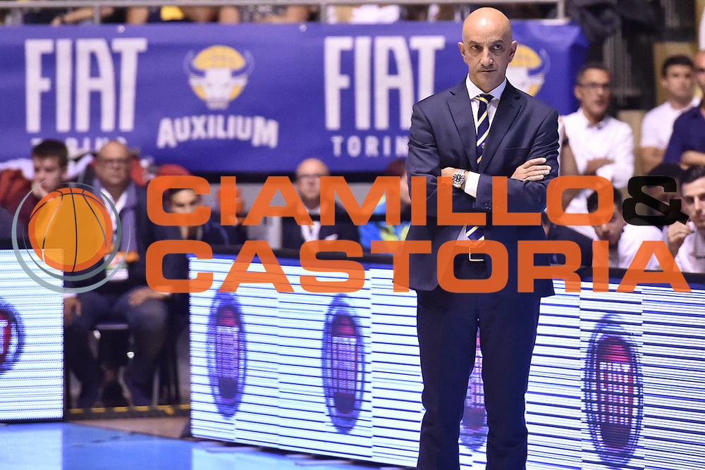 Vitucci Francesco<br /> Fiat Torino - Consultinvest Pesaro<br /> Lega Basket Serie A 2016/2017<br /> Torino 09/10/2016<br /> Foto Ciamillo-Castoria