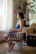 Melbourne destination wedding photographer captures beautiful getting ready portraits Hawaii