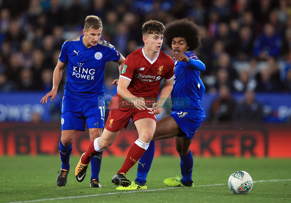 Liverpool's Ben Woodburn during the Carabao Cup, third round match at the King Power Stadium, Leicester.