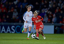 NEWPORT, WALES - Thursday, April 4, 2019: Wales' Jessica Fishlock during an International Friendly match between Wales and Czech Republic at Rodney Parade. (Pic by David Rawcliffe/Propaganda)