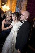 JILL COLLINS, LILY COLLINS AND PHIL COLLINS, Crillon Debutante Ball 2007,  Crillon Hotel Paris. 24 November 2007. -DO NOT ARCHIVE-© Copyright Photograph by Dafydd Jones. 248 Clapham Rd. London SW9 0PZ. Tel 0207 820 0771. www.dafjones.com.