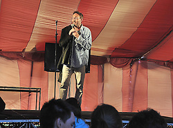David McSavage performing in the comedy tent at the Westport Festival.<br /> Pic Conor McKeown