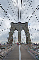 brooklyn bridge, in New York City October 2008