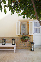 Cyprus terrace of colonial style house