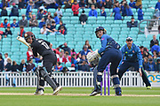 Sam Billings wicketkeeper (Kent) looks on as Rory Burns (Surrey) is caught in the slips during the Royal London 1 Day Cup match between Surrey County Cricket Club and Kent County Cricket Club at the Kia Oval, Kennington, United Kingdom on 12 May 2017. Photo by Jon Bromley.