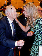 11-10-2016 BUENOS AIRES  - the parents of Queen Maxima Jorge Zorreguieta en zijn vrouw Maria del Carmen cerruti Zorreguieta , de ouders van koningin Maxima en haar zus Ines , Public Address at Universidad Católica Argentina , San Agustín Auditorium, UCA during her speech .   Queen Maxima visits Argentina in its role of special advocate of the Secretary-General of the United Nations for Inclusive Finance for Development. COPYRIGHT ROBIN UTRECHT NETHERLANDS ONLY Koningin Maxima  bezoek Argentinie in haar functie van speciale pleitbezorger van de secretaris-generaal van de Verenigde Naties voor Inclusieve Financiering voor Ontwikkeling. COPYRIGHT ROBIN UTRECHT NETHERLANDS ONLY