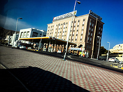 Kins Oman Hospital. Images from the MSC Musica cruise to the Persian Gulf, visiting Abu Dhabi, Khor al Fakkan, Khasab, Muscat, and Dubai, traveling from 13/12/2015 to 20/12/2015.
