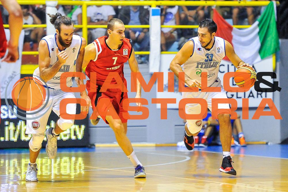 DESCRIZIONE : Cagliari Qualificazione Eurobasket 2015 Qualifying Round Eurobasket 2015 Italia Svizzera - Italy Switzerland<br /> GIOCATORE : Pietro Aradori<br /> CATEGORIA : Palleggio Contropiede<br /> EVENTO : Cagliari Qualificazione Eurobasket 2015 Qualifying Round Eurobasket 2015 Italia Svizzera - Italy Switzerland<br /> GARA : Italia Svizzera - Italy Switzerland<br /> DATA : 17/08/2014<br /> SPORT : Pallacanestro<br /> AUTORE : Agenzia Ciamillo-Castoria/ Luigi Canu<br /> Galleria: Fip Nazionali 2014<br /> Fotonotizia: Cagliari Qualificazione Eurobasket 2015 Qualifying Round Eurobasket 2015 Italia Svizzera - Italy Switzerland<br /> Predefinita :
