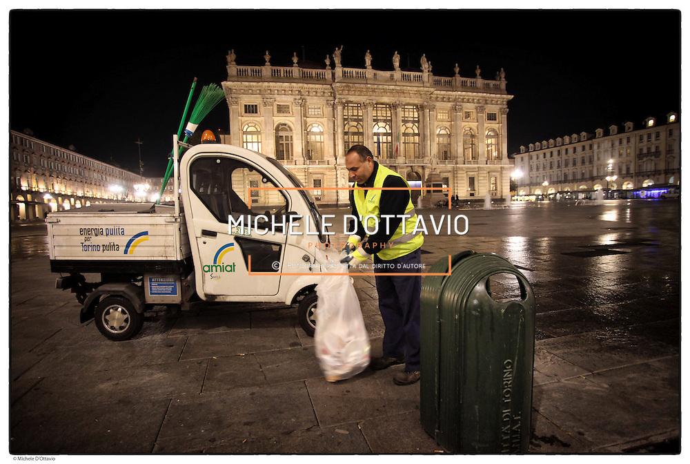 Amiat pulizia stradale notturna del centro storico di Torino Amiat  (acronimo di Azienda Multiservizi Igiene Ambientale Torino) è una società per azioni che eroga i servizi d'igiene del suolo, di raccolta e smaltimento rifiuti per la città di Torino